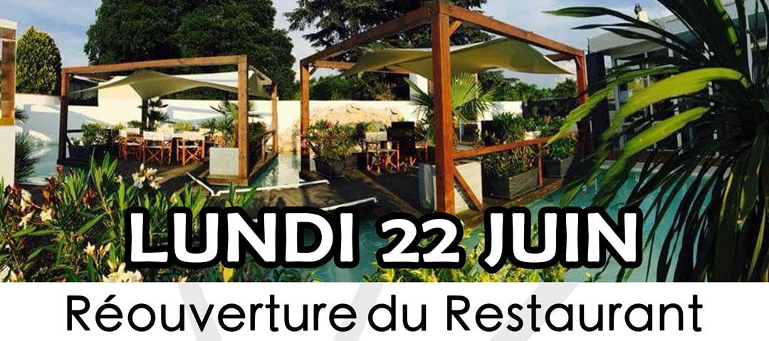 Réouverture du restaurant - Lundi 22 juin